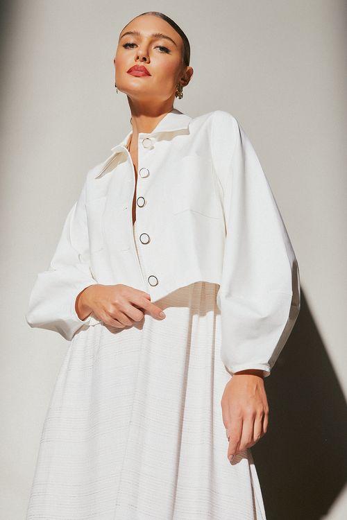 Casaco com detalhe bolso de alfaiataria Off white
