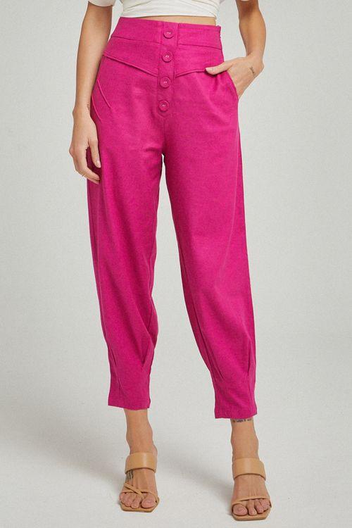 Calça Botões forrados Pink