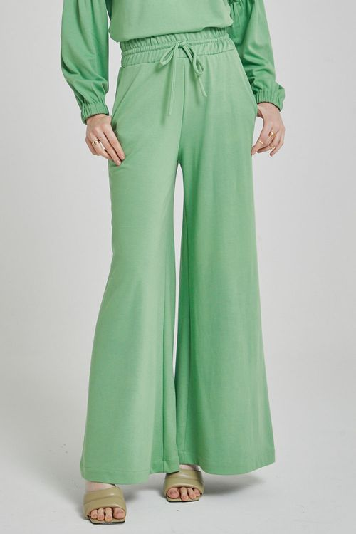 Calça de malha com amarração na cintura Green